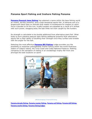Panama marlin fishing, Panama fishing lodges