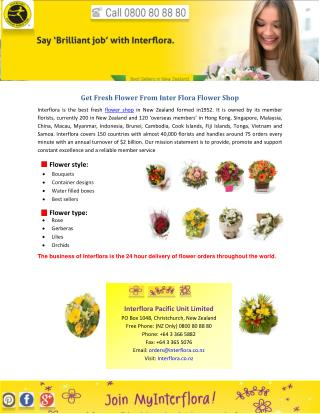 Get Fresh Flower From Inter Flora Flower Shop