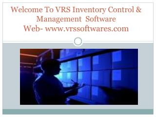 VRS Inventory control management software presentation