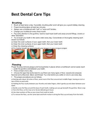 Best Dental Care Tips