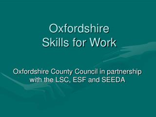 Oxfordshire Skills for Work