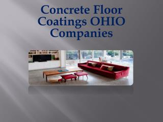 Concrete Floor Coatings OHIO Companies