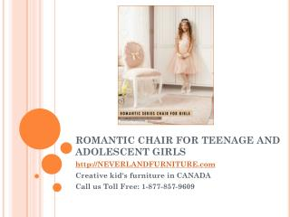 Romantic Chair for Teenage and Adolescent Girls