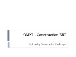 OMNI – Construction ERP