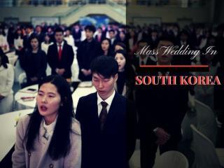 Mass wedding in South Korea