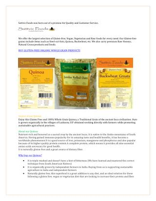 Buy Gluten-free Products from Sattvic Foods