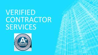 Verified Contractor Service