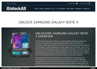 Unlock Samsung Galaxy Note 4 With iUnlockAll