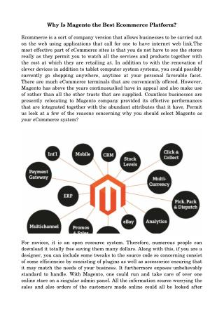 Why Is Magento the Best Ecommerce Platform?