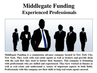 Middlegate Funding - Experienced Professionals