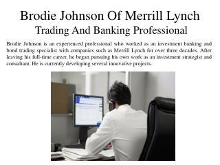 Brodie Johnson of Merrill Lynch - Trading and Banking Professional