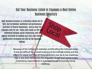 Business Listing at Elapages