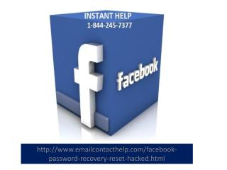 Facebook Help 1-844-245-7377 Phone Number