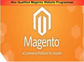 Hire Qualified Magento Website Programmer