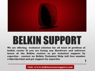 Belkin Com Support toll free number 1-855-293-0942