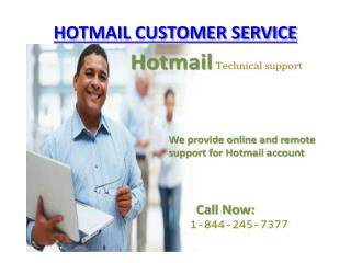 Contact Hotmail Customer Service 1-844-245-7377 Help Number