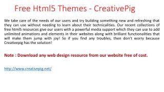 Free Html5 Resources