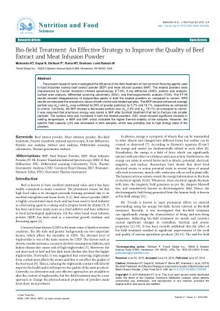Improve the Quality of Beef Extract and Meat Infusion Powder