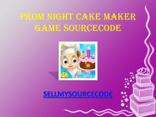 Prom Night Cake Maker Game Sourcecode