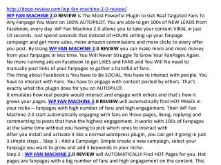 WP FAN MACHINE 2.0 REVIEW