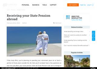Receiving your State Pension abroad