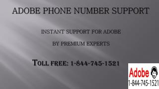 Adobe Phone Number 1-844-745-1521