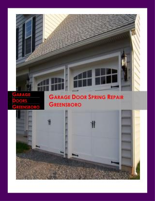 Experts Garage Door Spring Repair