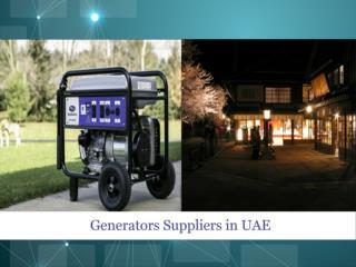 Generator Suppliers in UAE