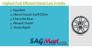 Highest Fuel Efficient Diesel Cars in India