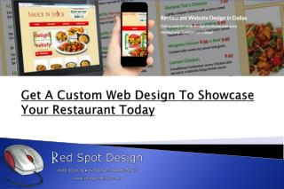 Get A Custom Web Design To Showcase Your Restaurant Today