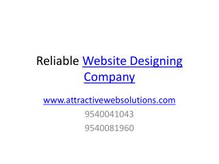 Reliable Website Designing Company
