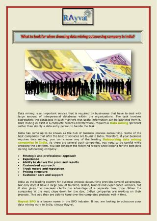 Data mining outsourcing company in india