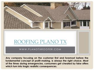 Roof Installation Plano TX