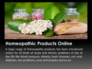 Buy Homeopathic Medicine Online in India