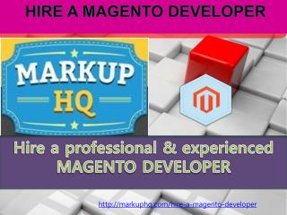 HIRE A MAGENTO DEVELOPER