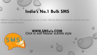 Bulk SMS Service Provider in India | SMSvis