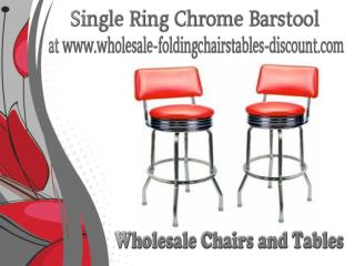 Single Ring Chrome Barstool at www.wholesale-foldingchairstables-discount.com