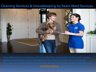 Cleaning Services & Housekeeping by Sears Maid Services