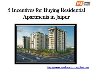 5 Incentives for Buying Residential Apartments in Jaipur