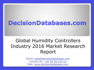 Global Humidity Controllers Industry- Size, Share and Market Forecasts 2021