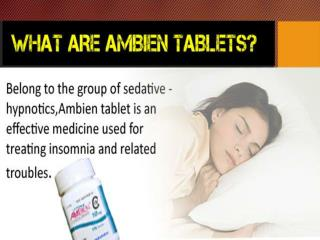 Ambien Tablets for Insomnia