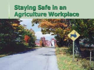 Staying Safe in an Agriculture Workplace