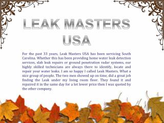 Find the Best Water Leak Detection Company in Myrtle Beach Charleston