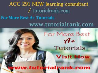 ACC 291 NEW   Academic professor / Tutorialrank.com