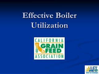 Effective Boiler Utilization