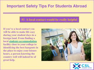 Important safety tips for students abroad
