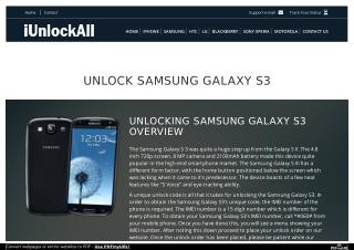 Unlock Samsung Galaxy S3 with iUnlockAll
