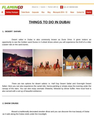 Top Things To Do in Dubai | Dubai Tour