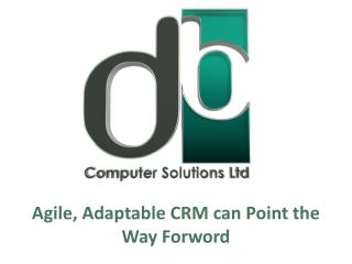 Agile, Adaptable CRM can Point the Way Forword
