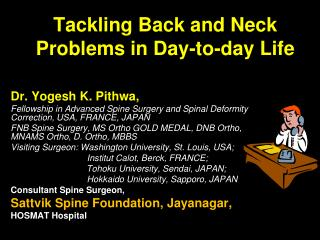 Tackling Back and Neck Pain in Day to Day Life